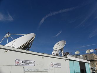 Channel 1 (Israel) - Satellite dishes at Channel 1's compound in Jerusalem