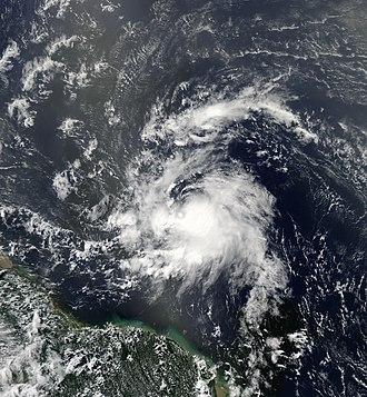 2013 Atlantic hurricane season - Image: Chantal Jul 8 2013 1655Z