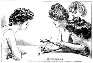 "Pompadour (hairstyle) - The pompadour was an essential part of the ""Gibson Girl"" look."