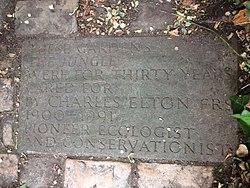 Photo of Charles Elton plaque