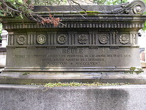 Charles Ernest Beulé - Beulé's grave at the Père Lachaise Cemetery in Paris