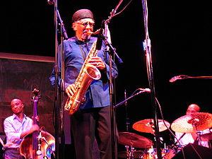 Charles Lloyd (jazz musician) - Charles Lloyd with Reuben Rogers and Eric Harland, Santa Barbara, 2006