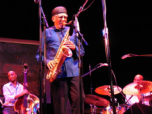 Charles Lloyd with Reuben Rogers and Eric Harland, Santa Barbara, 2006 Charles Lloyd, with Reuben Rogers & Eric Harland, Santa Barbara 9-2006, Image by Scott Williams.JPG