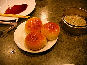 Cha siu bao - Baked cha siu bao dough for this type is different from the steamed version