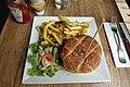 Cheeseburger + French fries @ Odette et Charlus @ Paris (34797711440).jpg