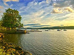 Wappinger waterfront along the Hudson River