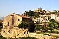 Chiesa di San Vincenzo e vista Castello di Lauria.JPG