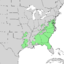 Chionanthus virginicus range map 2.png
