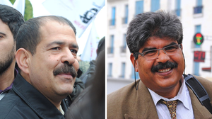 2013–14 Tunisian political crisis - Assassinated Tunisian politicians Chokri Belaid (on the left) and Mohamed Brahmi (on the right).