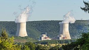 Reaktorblöcke B1 und B2 mit Kühltürmen