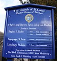 Church of St Cadoc sign - geograph.org.uk - 1754386.jpg