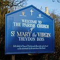 Church of St Mary Theydon Bois Essex England - exterior sign board.jpg