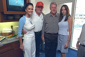 US Open (tennis) - President Bill Clinton and Future President Donald Trump at the US Open in 2000