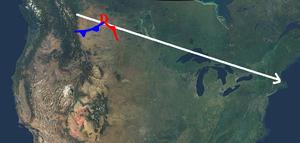 Alberta clipper - Average trajectory of a Clipper