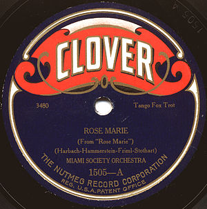 English: Clover, US record label from the mid-...