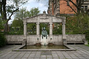 Princess Alexandrine of Baden - Alexandrine's memorial fountain in Coburg.