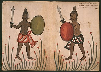 Sri Lanka Armed Forces - Sinhala warriors of the 16th century, from a contemporary Portuguese codex
