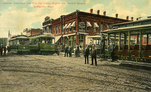 Coffeyville, Kansas - Coffeyville trollies, ca. 1900