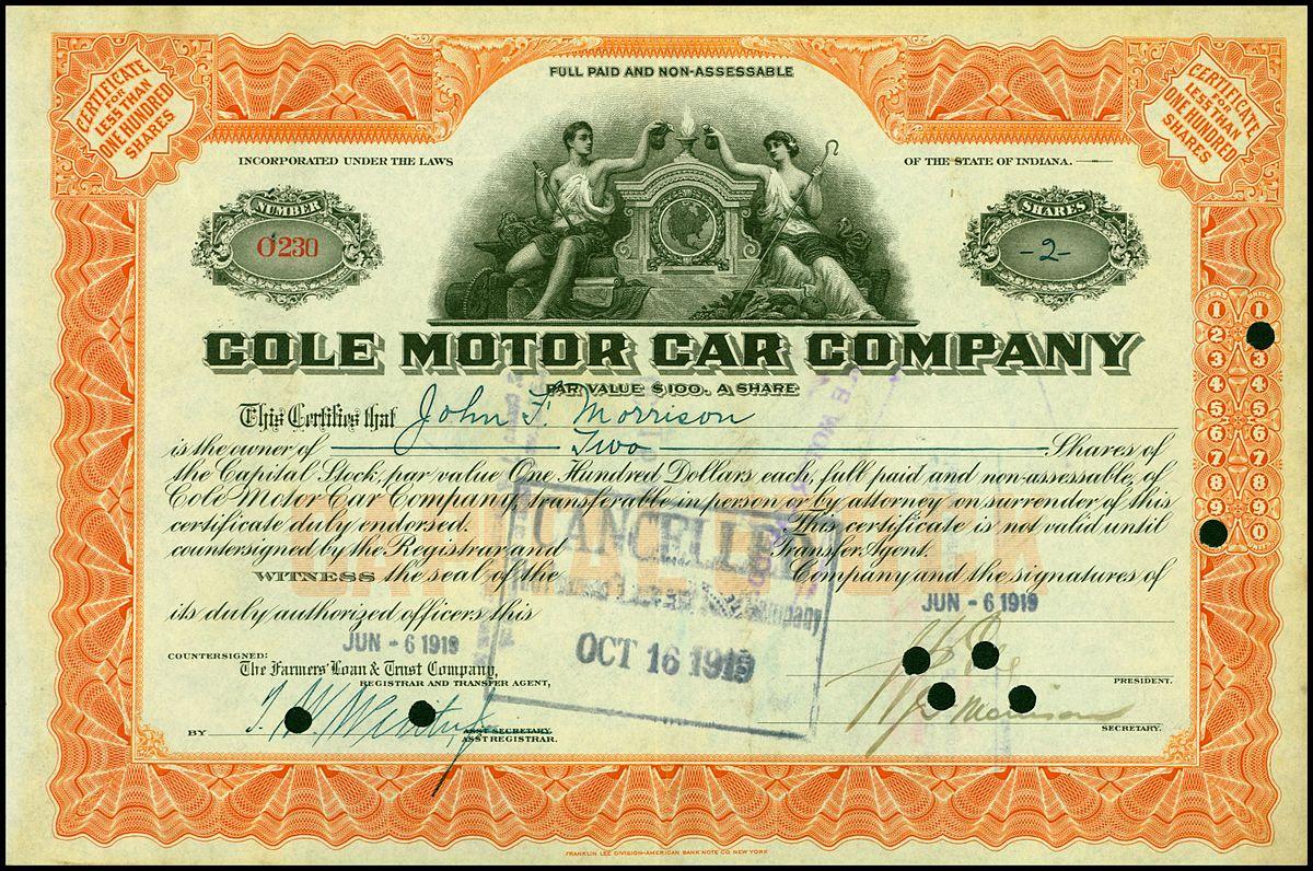 Cole Motor Car Company Wikipedia