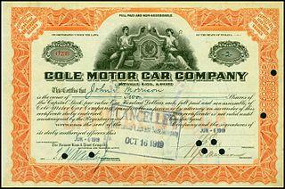 Cole Motor Car Company Car manufacturer