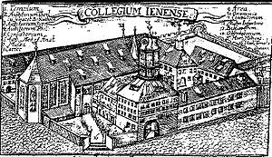 University of Jena - University of Jena around 1600. Jena was the center of Gnesio-Lutheran activity during the controversies leading up to the Formula of Concord.