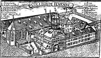 Lutheranism - The University of Jena around 1600. Jena was the center of Gnesio-Lutheran activity during the controversies leading up to the Formula of Concord.
