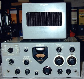 Single-sideband modulation - A Collins KWM-1, an early Amateur Radio transceiver that featured SSB voice capability
