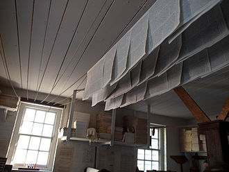 James Parker (publisher) - colonial newspapers drying