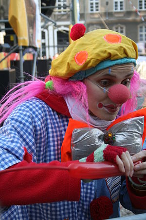 Colorful clown in Szczecin