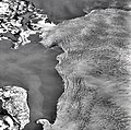 Columbia Glacier, Calving Terminus, Heather Island, April 19, 1974 (GLACIERS 1182).jpg