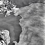 Columbia Glacier, Calving Terminus, Heather Island, April 19, 1974 (GLACIERS 1182).jpg