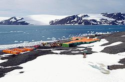 Base antártica brasileña Comandante Ferraz.