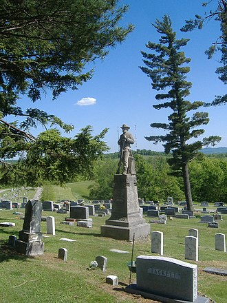 National Register of Historic Places listings in Bath County, Kentucky - Image: Confederate Monument in Owingsville 2