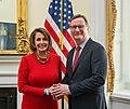 Congresswoman Pelosi meets with UCSF Chancellor Sam Hawgood (25665957010).jpg