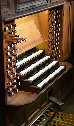 Great organ of Nancy Cathedral - Console of the great organ of Nancy cathedral