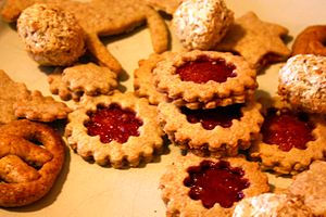 English: Christmas cookies.