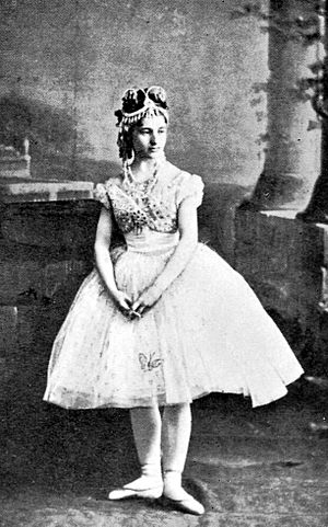 Ivor Forbes Guest - Photo of the ballerina Giuseppina Bozzachi (1853–1870) costumed as Swanilda in the ballet Coppélia. Paris, France, 1870, reproduced in Guest's The Ballet of the Second Empire