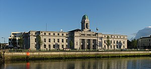 Cork City Hall. Panoramic stitch from two images.