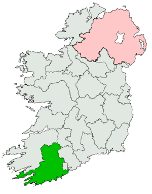 Cork Mid, North, South, South East and West (Dáil Éireann constituency) - Image: Cork Mid North South South East and West Dáil constituency 1921 1923