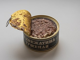 Bear hunting - Canned bear meat from Russia