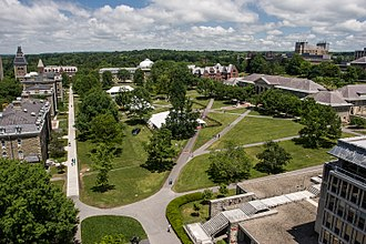 Cornell University College of Arts and Sciences - Image: Cornell University Arts Quad from Mc Graw Tower