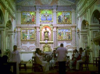 Jesuit Missions of Chiquitos - A concert in front of the altar at San Xavier.