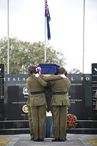Corporal Doug Grant carried to the Papakura Cenotaph - Flickr - NZ Defence Force