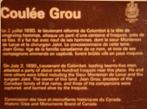 Coulee grou monument quebec