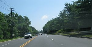 County Route 544 (New Jersey) - CR 544 (Evesham Road) in Evesham Township, New Jersey