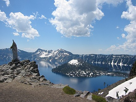 Crater Lake during summer Crater Lake - panoramio.jpg