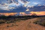 Crepuscular rays at Sunset near Waterberg Plateau.jpg
