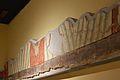 Cripta arqueològica de la presó de Sant Vicent Màrtir, sòcol amb pintura mural romana.JPG