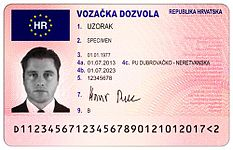 Croatian driving licence