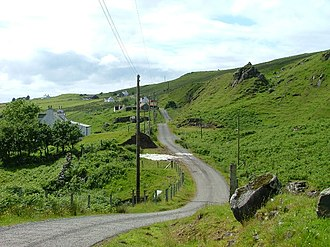 Township (Scotland) - In northern and western areas of Scotland, many people live in small crofting townships, such as here on the Isle of Skye.